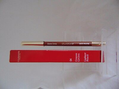 Clarins Lipliner pencil glide on long wearing - 04 chocolate - Brand new boxed