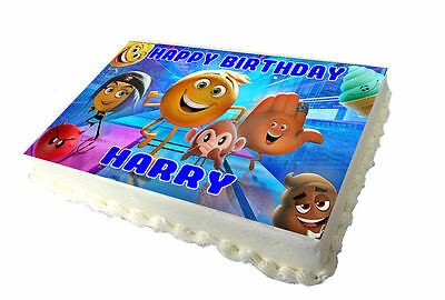 Party Supplies A4 Emoji Movie Edible Icing Birthday Cake Topper