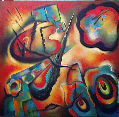 Large KATHERINE ARION Org. Abstract Painting