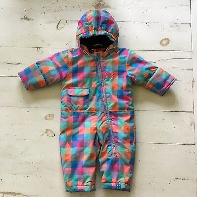 10540e0b3 Roxy Baby Girls Snowsuit Sz 6 Months Winter Snow Bunting One Piece