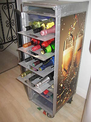ALUMINIUM WINE TRAY DRAWER SHELF for AIRLINE TROLLEY CATERING CART BOX BAR X