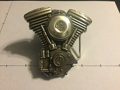 Vintage Harley-Davidson V2 Engine Belt Buckle Evolution HD Chopper Pan Shovel