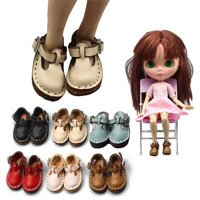 Doll Shoes PU Leather For 1/6 BJD Blythe Dolls 1 Pair Mini Lovely Hot Durable