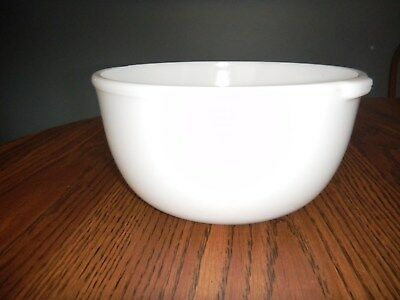 Vtg Oster Regency Kitchen Center Replacement Large Glass Mixing Bowl (White)