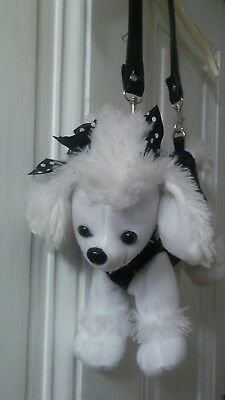 Black and white  Puppy Dog with black Sequences, Purse, Pocketbook super cute!!!