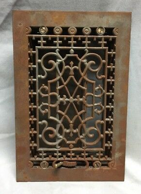 Antique Cast Iron Decorative Heat Grate Floor Register 6X10 Vintage Old 761-18C