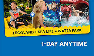 1 Ticket LEGOLAND California & Aquarium & Waterpark & $20 Parking Pass. Combo