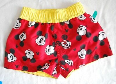 Infant Boys Size 0-3 Months Swim Shorts Mickey Mouse Clothing - New