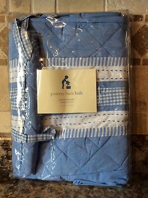 NEW Pottery Barn Kids BABY BOY Hanging Diaper Stacker Blue NEW In PACKAGING