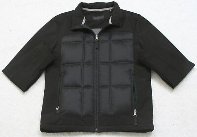 New Guess Black Polyester Jacket Coat Size Medium Men's Man's Zip Up Lined NWOT
