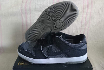 wholesale dealer 4c597 2face NIKE SB DUNK Low Elite QS Medicom Bearbrick Black Grey Denim 877063 002 Sz  11.5