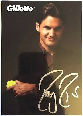 Roger Federer Signed Tennis Photo Autographed AUTO 100% Authentic Silver!!