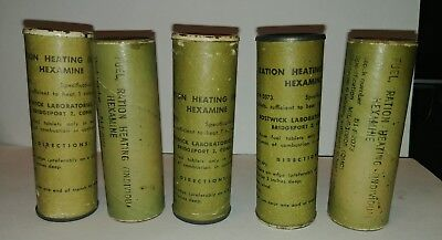 ONE WW2 WWII Us Army Hexamine Fuel Tablets Ration Heating Tube