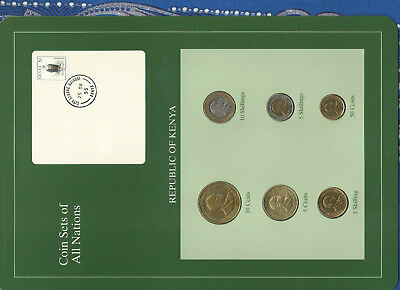 Coin Sets of All Nations Kenya UNC 1991-1995 5 Shillings 1995 10 Shillings 1994