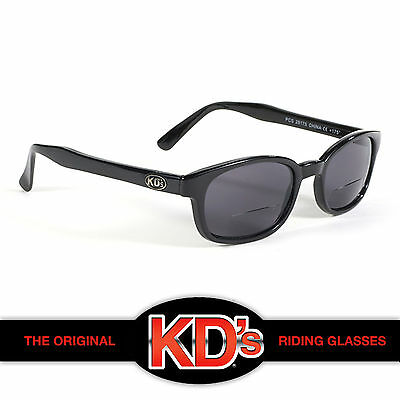 7e4955d0ed6 KD s Original Black Frame Smoke Readerz Lens 2.50 Motorcycle Riding  Sunglasses