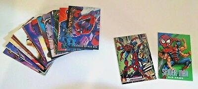 Spider-Man Premium Eternal Evil Trading Card Lot - Vintage 1996 Fleer + 2