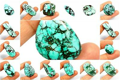 100% Natural Turquoise Loose Cabochon Gemstone AB576-605 Free Shipping