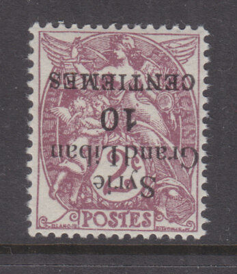 SYRIA, 1923 Syrie-Grand Liban, INVERTED 10c. on 2c. Claret, mnh.