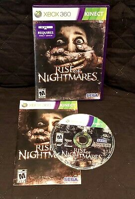 Rise of Nightmares (Microsoft Xbox 360, 2011) Complete Tested R2