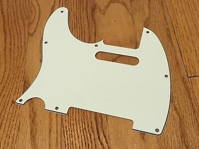 Left Handed 3-Ply Mint Green Telecaster Fender Pickguard Lefty Tele Guard 62 RI