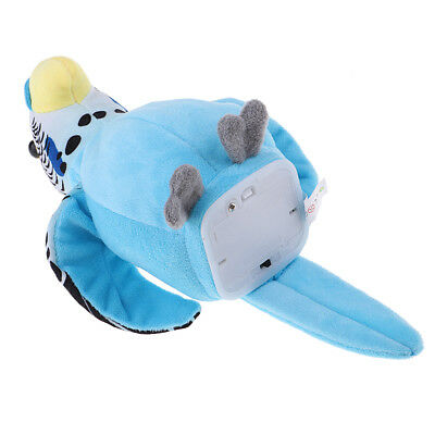 Talking Parrot Toy, Repeats What You Say Plush Animal, Electronic Toys Blue