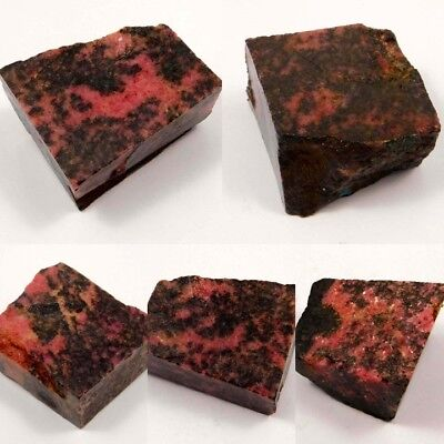 100% Natural Rhodonite Rough Mineral Specimen NR10553-10563 Free Shipping