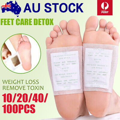 100/200x Detox Foot Patch Pads Natural plant Toxin Removal Sticky Adhesives