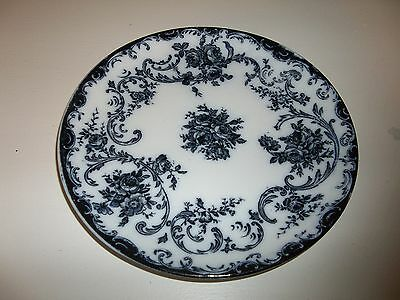 Antique Royal Bonn Rosenguirlande Flow Blue Floral Plate Germany 8.5""