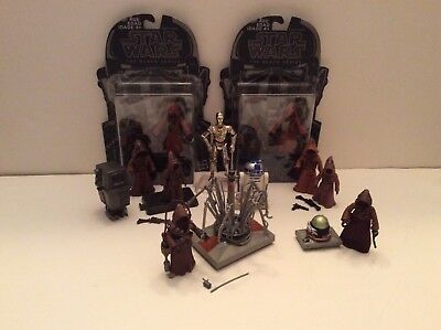 Star Wars Jawas Security, Treadwell & Power Droids R2-D2 C-3PO loose figure lot