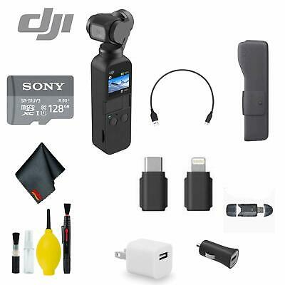 DJI Osmo Pocket Handheld 3 Axis Gimbal Stabilizer Bundle 4