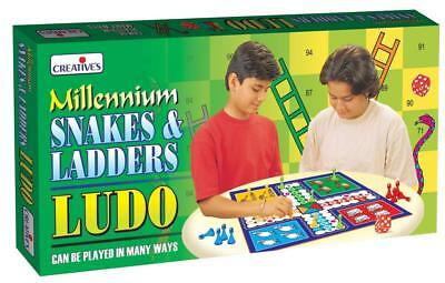 Ludo Snakes And Ladders Classic Family Board Games Kids Fun Toy NEW VERSION Game