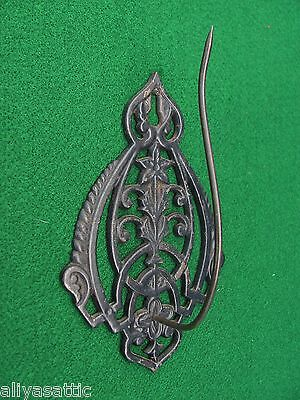 Original Antique Ornate Victorian Cast Iron Bill & Receipt Holder Wall Mount