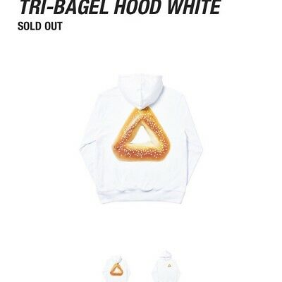 31345ec5d1d7 Palace Skateboards Tri ferg Bagel White Medium Hood Hoodie Hooded Sweatshirt