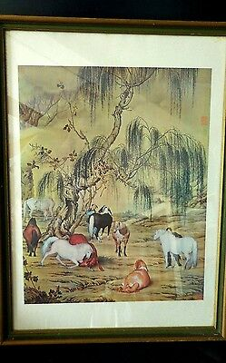 Lang Shining (Giuseppe Castiglione) Eight Horses National Palace Museum Print