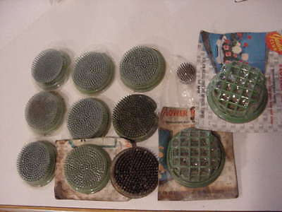 Vintage Metal Pin Frogs Flower Plant Spikes & Cages Floral Ikebana Some NEW