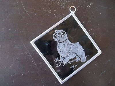 Norfolk Terrier-  Beautifully  Hand Engraved  Ornament by Ingrid Jonsson.