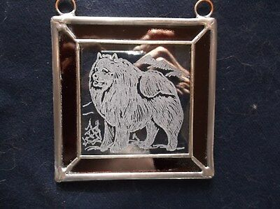 Samoyed-  Beautifully Hand engraved Ornament by Ingrid Jonsson.