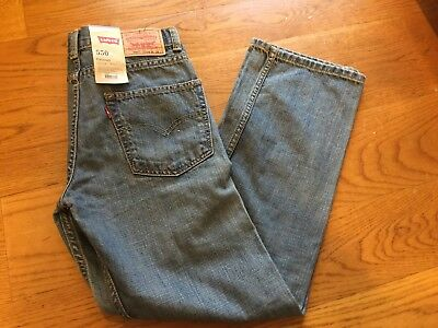 Levi's 550 Relaxed Fit Jeans, Kid's Boy's 16 Slim 26 x 28, NEW w/ Tags