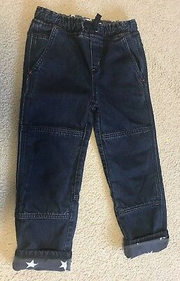 Mini Boden Kids Boy Denim Size 6 Y Star Lined Jeans Pull On Jeans