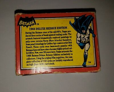 Batman 1966 Deluxe Reissue Edition Cards 143 INCOMPLETE (76) in Box Topps 1989