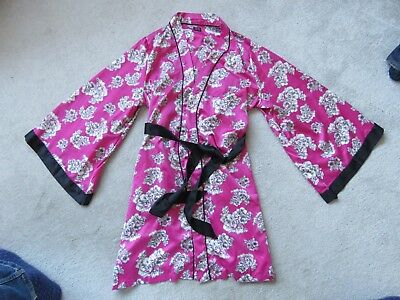 Pink Floral Kimono Dressing Gown Simply Bare By Janet Reger Size