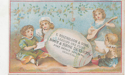C9365   Victorian Trade Card  S Rosenbloom & Sons  Boots And Shoes Syracuse Ny