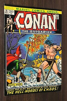 CONAN THE BARBARIAN #15 -- May 1972 -- Barry Smith -- VF- Or Better