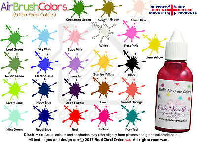 Air Brush Cake Decorating Edible Colours Paints - 20 ML Baby Pink by Karen's