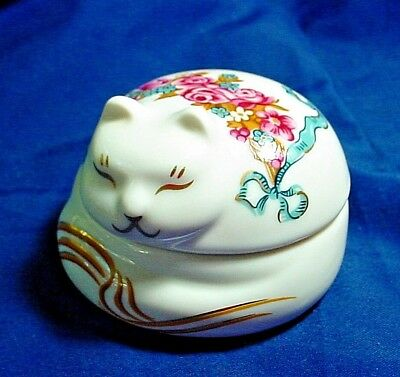 Elizabeth Arden Porcelain Cat Candle With Unused Candle