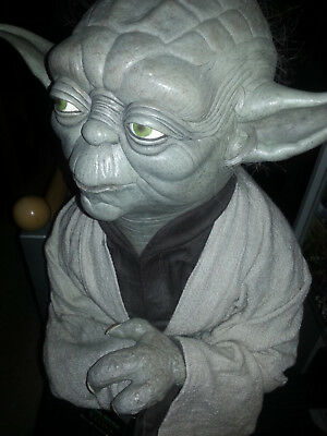 Star Wars Yoda Life Size Bust 1:1 Sideshow Collectibles Rare EXTREM LOW NUMBER!