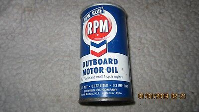 Vintage Nos Rpm Standard Oil Outboard Oil Can (12)