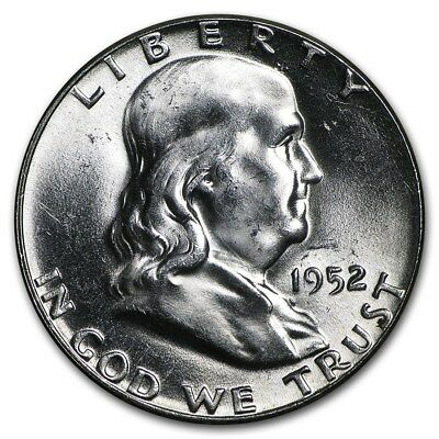GEM UNCIRCULATED 1952 Franklin Silver Half Dollar