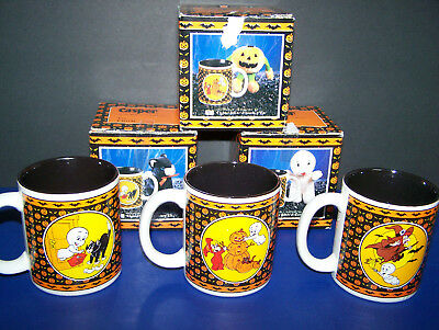 NIB Vintage 1986 CASPER THE FRIENDLY GHOST Set of 3 MUGS / CUPS Unused Conditon