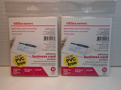 Office Depot Brand Adhesive Business Card Pockets Lot Of 10 10